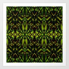 Fractal Art Stained Glass G313 Art Print