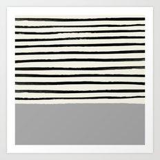 Storm Grey x Stripes Art Print