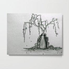 Wilted Plant Metal Print