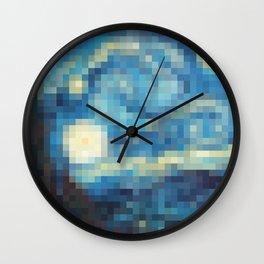 Pixelized Night Wall Clock