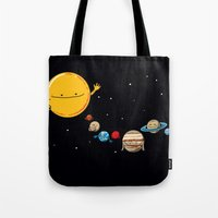 planets Tote Bags featuring Planets by awkwardyeti