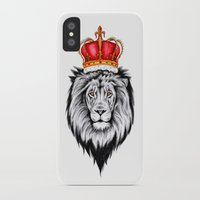 the lion king iPhone & iPod Cases featuring Lion King by Libby Watkins Illustration