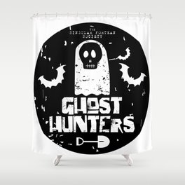 The Singular Fortean Society Ghost Hunters Shower Curtain
