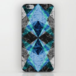 Marble Geometric Background G432 iPhone Skin