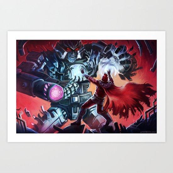 Magneto vs Megatron Art Print