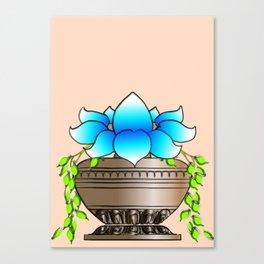 Blue Lotus Canvas Print