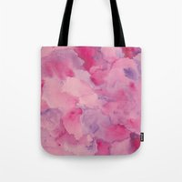 beth hoeckel Tote Bags featuring Beth Rose Watercolor by Erin McClain Studio
