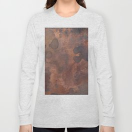 Tarnished, Stained and Scratched Copper Metal Texture Industrial Art Long Sleeve T-shirt