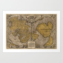 Old World Map Art Print