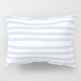 Light Blue Stripes Horizontal Pillow Sham
