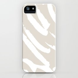 Neutral Brush Strokes iPhone Case