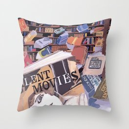 FLYING OFF THE SHELVES Throw Pillow