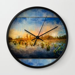 Sunset Over the Okefenokee ~ Ginkelmier Inspired Wall Clock