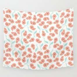 Retro flowers 001 Wall Tapestry