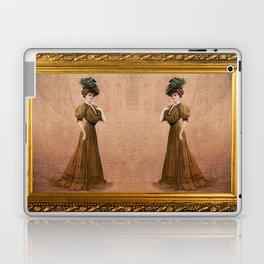 Woman in yellow dress Edwardian Era in Fashion Laptop & iPad Skin