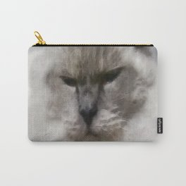 White Persian Cat In Watercolor Carry-All Pouch