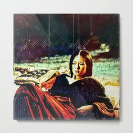 By Firelight Metal Print