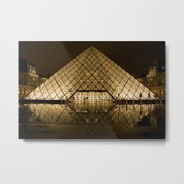 louvre glass pyramid paris pyramid Metal Print