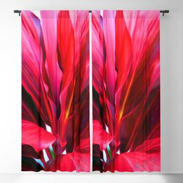 Red Ti Leaf Blackout Curtain