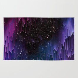 Ultra Violet Glitch Galaxy Rug