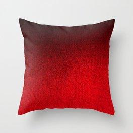Ruby Red Ombré Design Throw Pillow
