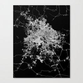 Guadalajara map Canvas Print