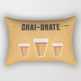 Funny Chai-Drate Hydrate Quote Rectangular Pillow