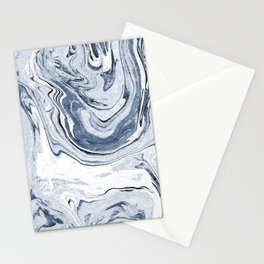 Kiyomi - spilled ink japanese monoprint marble paper marbling art print cell phone case with marble Stationery Cards