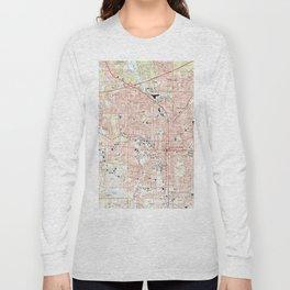 Tallahassee Florida Map (1999) Long Sleeve T-shirt