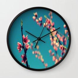 Peachflower Wall Clock