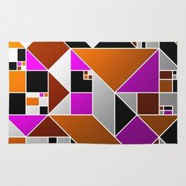 Metallic Mosaic - Geometric, abstract pattern Rug