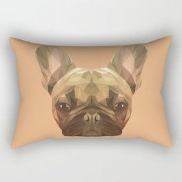 French bulldog puppy low poly. Rectangular Pillow