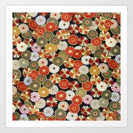 Golden Chrysanthemums Art Print