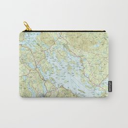 Lake Winnipesaukee Map (1986) Carry-All Pouch
