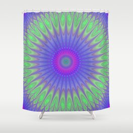 Cold mandala Shower Curtain