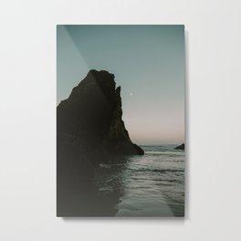 Oregon Coast Dark Ocean Metal Print