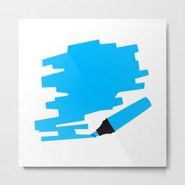 Blue Marker Copy Space Metal Print