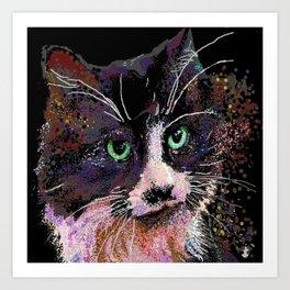Digital Cat Adventure Art Print