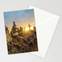 Sunset on the beach in Khao Lak Stationery Cards