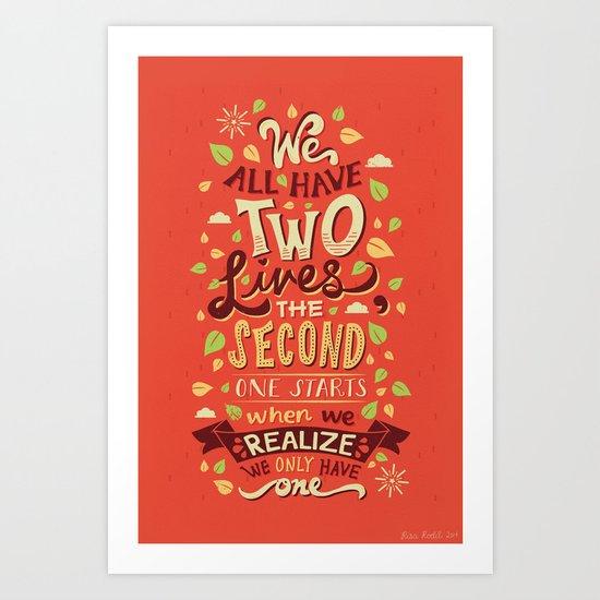Two Lives Art Print