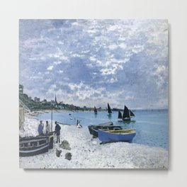 Claude Monet : Regatta at Sainte-Adresse / The Beach at Sainte Adresse Metal Print