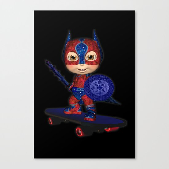 The Masked Avenger .. fantasy art  Canvas Print