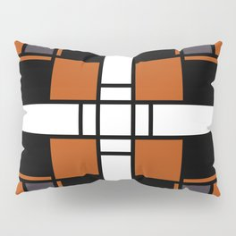 Neoplasticism symmetrical pattern in tangelo Pillow Sham
