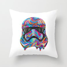 Colortrooper Throw Pillow