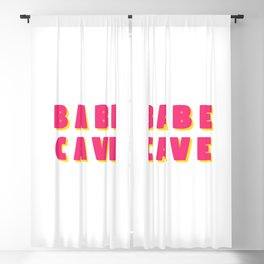 Babe cave - Pink and yellow Blackout Curtain