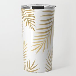Gold palm leaves Travel Mug