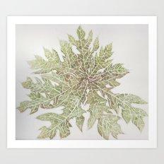 50 Shades of Green Art Print