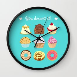 You dessert it! Wall Clock