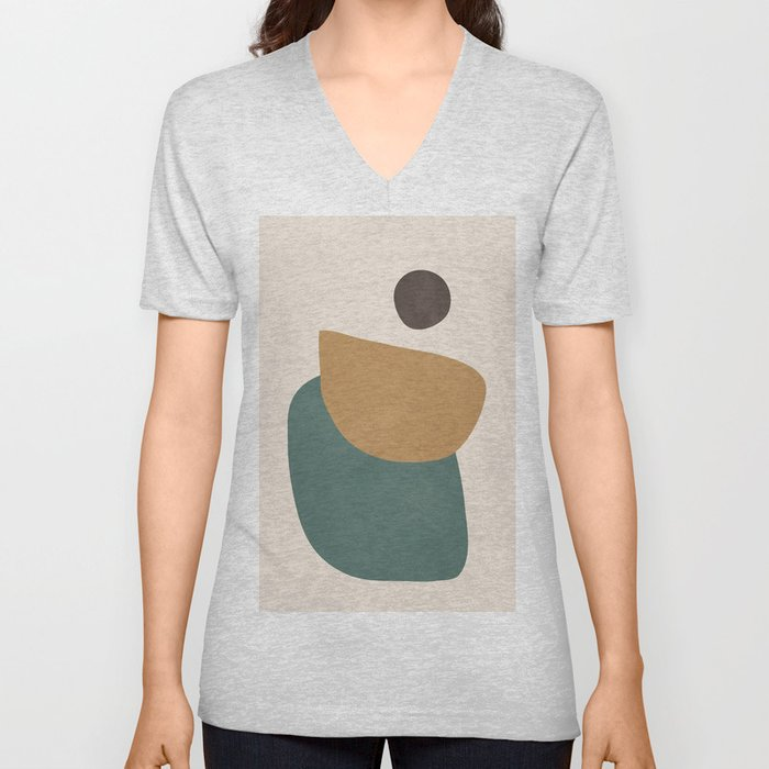 Abstract Minimal Shapes III Unisex V-Neck
