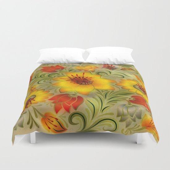 Shabby flowers #9 Duvet Cover